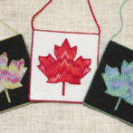 Canvas Work Bargello Canadian Flag