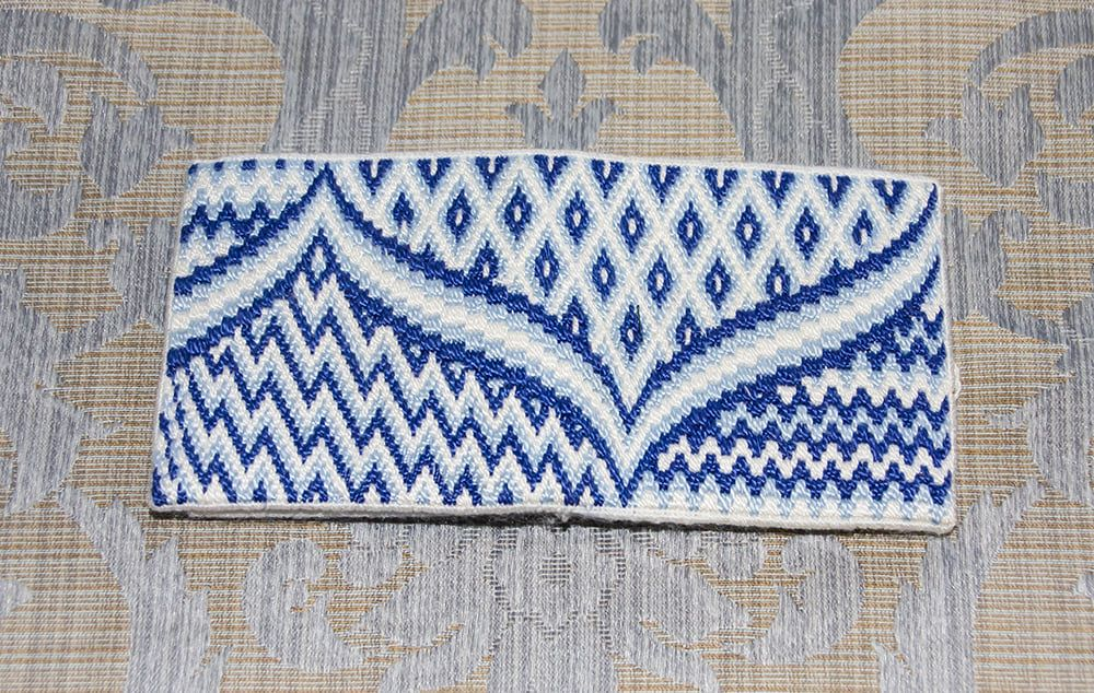 Bargello needle case, designed by Carol Storie, Stitched by Marilyn
